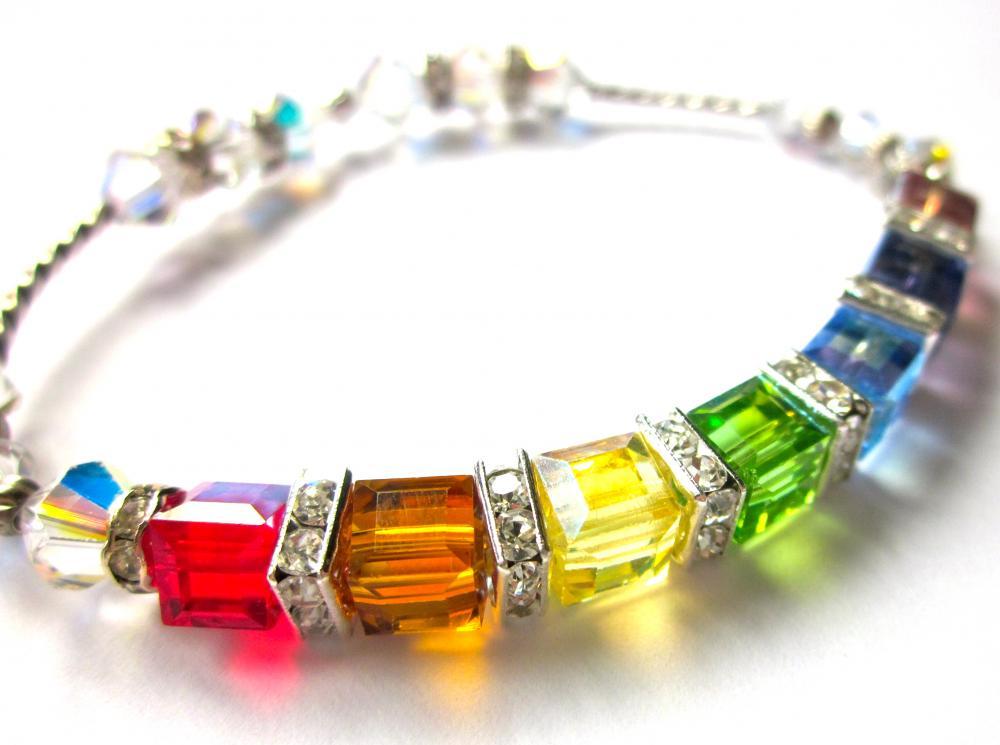 sparkling swarovski quot covenant quot cube bracelet