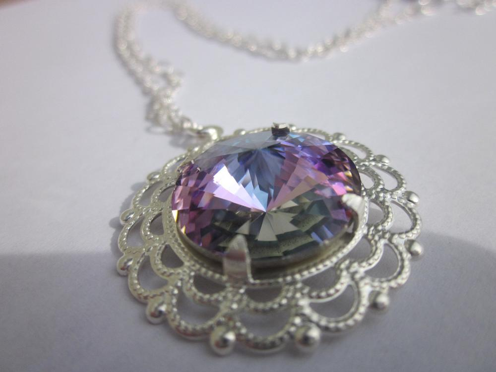 "Swarovski crystal ""light vitrail rivoli"" necklace"