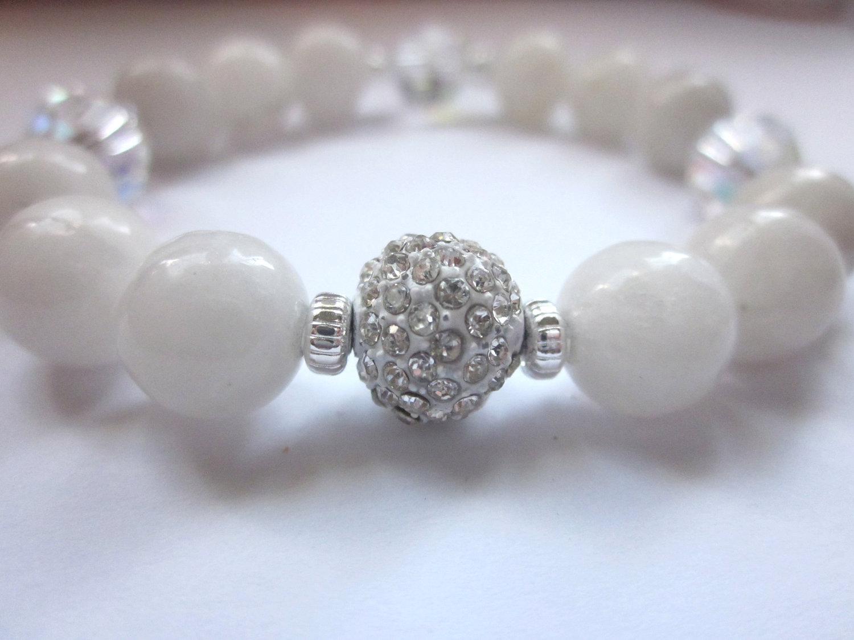 snow quartz and grey quartz gemstone pave